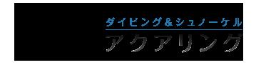 沖縄で口コミ1位のダイビング&シュノーケルショップ「aqua ring(アクアリング)」ロゴ