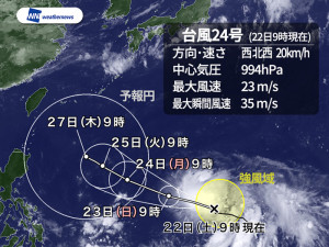 台風24号チャーミー